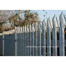 Heiß getaucht Galvanisiertes Stahl Palisade Zaun Panel
