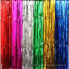 Ocho color de la decoración de la hoja metálica Fondo de la cortina de oro para la decoración de fiestas, escenario y eventos Photo Booth