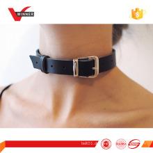 Neueste Mode Styles Black Leder Choker Halskette