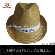 Billige Fedora Hüte für Männer Mütze Hut Stroh Hüte