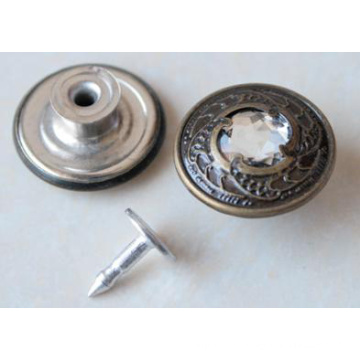 Silver Moving Jeans Buttons B294