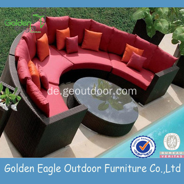 Garden Hemicycle Sectional Weiden Sofa Set