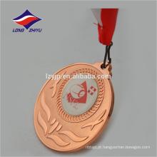 Medalha de bronze personalizada da Medalha de metal 3D com cordão
