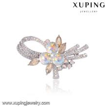 00093 Xuping neues Modell magnetische Braut Haar Brosche für Hochzeitseinladungen Großhandel Groß Brosche Kristalle von Swarovski