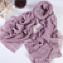 Хлопчатобумажный льняной платок бесконечного размера с люрексом