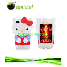 3D Hello-Kitty Silicon Gel Protector, Back Cover for Apple iPhone 4-4s (IPH005)