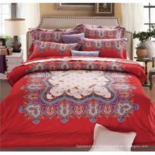 Oriental estilo de tela de algodón egipcio al por mayor ropa de cama conjunto de sábanas