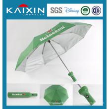 Рекламный складной зонтик в бутылочном чехле
