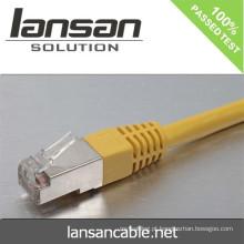 Lansan cat6 BC FTP 4pair cordão de cabo encalhado cabo 26AWG 7 * 0,16 milímetros cabo de cobre encalhado FLUKE teste
