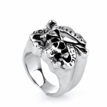 New design stainless steel forefinger skull rings