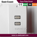 2-Port HD MI Wall Face Plate Panel Cover Coupler Outlet Extender 3D 1080P - White