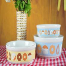Bol en céramique fait sur commande de maison de nouille de riz de vaisselle en céramique ronde