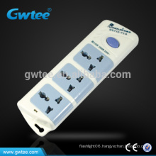 Hot sale 3 outlet multi electrical switch socket,extension cord