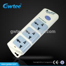 Hot venda 3 tomada tomada interruptor elétrico, cabo de extensão
