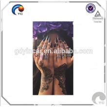 Estilo de la alheña tatuaje temporal estilo bohemio de la alheña tatuaje estilo boho etiqueta impermeable