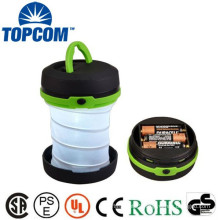 Round Mini Collapsible Camping Torch Brightness Camping LED Light