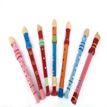 nueva flauta de juguete de madera, juguete de flauta de madera popular, flauta de madera de alta calidad del juguete