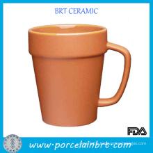 Simulation Flowerpots Ceramic Terra Cotta Mug