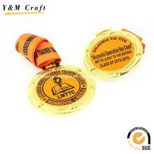 Liga de zinco chapeamento de ouro prêmio medalha impressa Ym1166