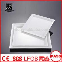 Hersteller Porzellan / Keramik Bankett quadratische Platte Teller