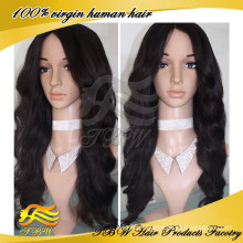 Cheap Middle Parting Virgin Human Hair Wigs White Women