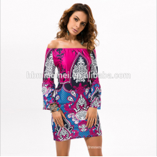 hot New Products for 2016 Summer Dresses Women off shoulder casual dress for lady