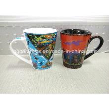Taza de cerámica impresa de calcomanía completa