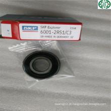 Feito no rolamento de esferas profundo SKF 6001-2RS1 / C3 do sulco do selo de borracha de Alemanha