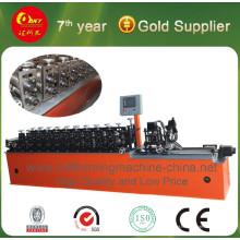 Máquina formadora de parafuso e esteira de aço metálico