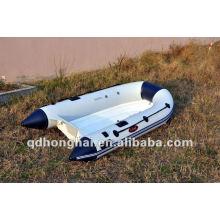 bateau gonflable de pêche en fibre de verre rib250 petit bateau rigide