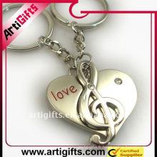 Melody porte-clés en métal pour le cadeau de promotion