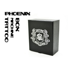 High Quality Leather Style Tattoo Machine Box with Phoenix Logo