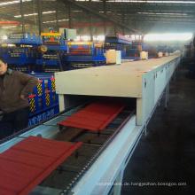 Färben Sie Stahl-antike glatte Platte sandblasting machiney Stein beschichtete die Metalldachplatte, die Maschine herstellt
