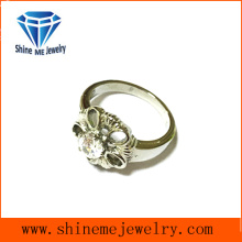 Flower Rings Wholesale Fashion CZ Rings Jewelry