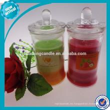 Vela perfumada en frasco de cristal / 2014 productos calientes de la venta