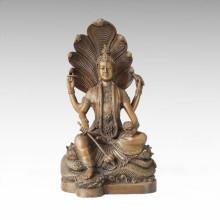 Statue de Bouddha Serpent Bodhisattva Bronze Sculpture Tpfx-B101