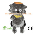 Grand loup gros animaux Rider Coin Operated Machine