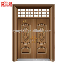 Hight quality modern front designs steel double leaf doors lower prices