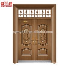 всемирно известный двойное повиснутое стальная дверь с ручкой и замком