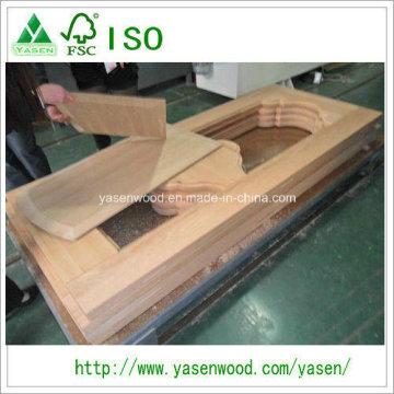 Gute Qualität Eiche Massivholztür oben Holztür Haut