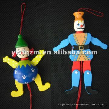 poupée de marionnettes en bois avec ficelle pour jouets d'enfants