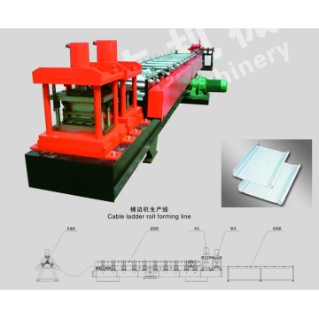 Steel Galvanized berlubang kabel Ladder Roll Forming Machine