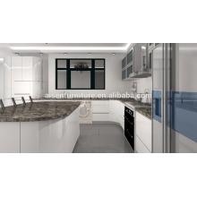 Óptima fábrica de durabilidade armários de cozinha de laca bege diretamente