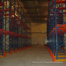 Chine fabricant warehosue rack utilisation lecteur de stockage de palettes dans les rayonnages