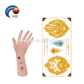 """Full of Metallic"" Fake Body Art Boho Tribe Metallic Gold and Silver Tattoos"