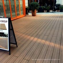 Pátio ao ar livre anti-derrapante decks wpc ambiental
