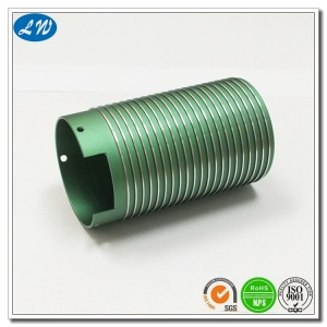 Anodized Aluminium CNC Turning Threaded Tube