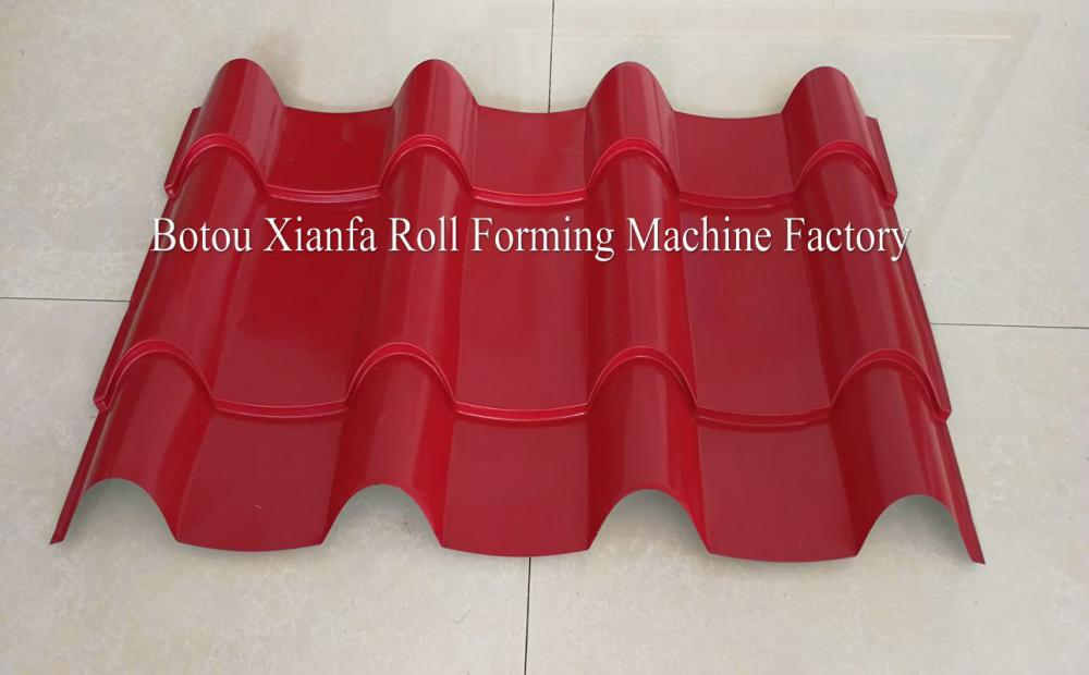 Steel Roof Tile Making Roll Forming Machine