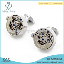 New arrival mens silver watch cufflinks,personalised silver cufflinks for men