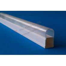 Tampa de plástico transparente do PC para o tubo de LED